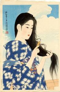 Ito Shinsui's After Washing Her Hair